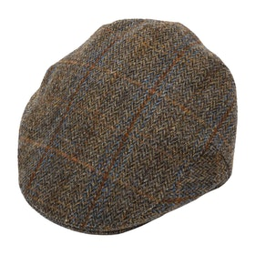 Cappello Christys Hats Harris Tweed Balmoral - Brown Cheek