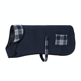 Country Attire Marty Fleece Dog Jacket - Navy/Navy/Sliver Check