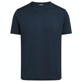Belstaff 100% Cotton Men's Short Sleeve T-Shirt - Navy