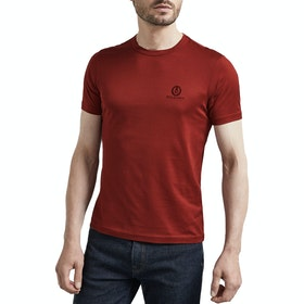 Belstaff 100% Cotton Herren Kurzarm-T-Shirt - Dark Carnelian