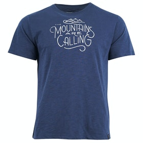 United by Blue Mountains Are Calling Graphic , Kortärmad T-shirt - Midnight
