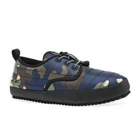 Holden Puffy Slippers - Navy Chocolate Chip Camo