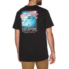 T-Shirt a Manica Corta Billabong Pipe Masters - Black