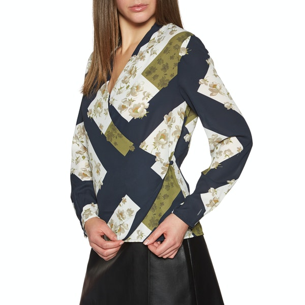 Ted Baker Pheadra Pearl Printed Wrap Blouse Women's Shirt