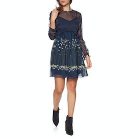 Ted Baker Zemi Pearl Printed Long Sleeve Mini Women's Dress - Dark Blue