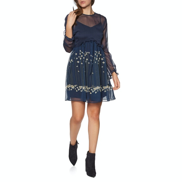 Ted Baker Zemi Pearl Printed Long Sleeve Mini Women's Dress