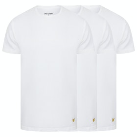 Lyle & Scott 3 Pack Maxwell Loungewear Tops - White