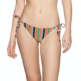 Billabong S.S Tie Side Tropic Womens Bikini Bottoms - Stripes