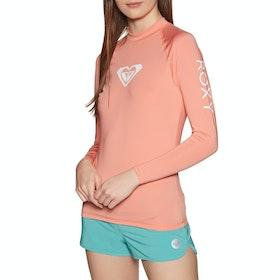 Rashguard Femme Roxy Swim The Sea Long Sleeve - Peach Blush Bright Skies S