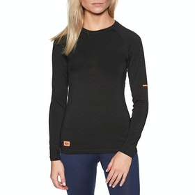 Mons Royale Mintaro Long Sleeve Womens Base Layer Top - Black
