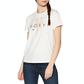 Roxy Epic Afternoon Logo Womens Short Sleeve T-Shirt - Snow White