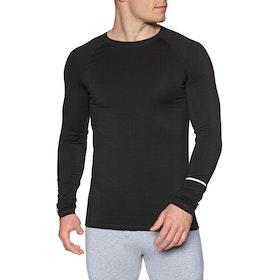 Mons Royale Mintaro Long Sleeve Base Layer Top - Black
