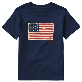 Polo Ralph Lauren Flag Junior Boy's Short Sleeve T-Shirt - Newport Navy