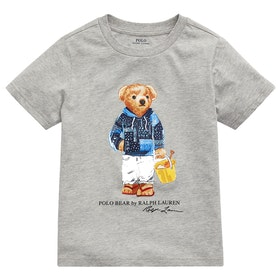 Polo Ralph Lauren Bear Boy's Short Sleeve T-Shirt - Light Grey Heather