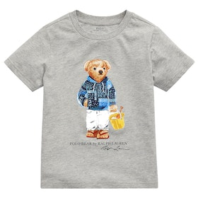 Polo Ralph Lauren Bear Junior Boy's Short Sleeve T-Shirt - Light Grey Heather