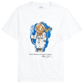 Polo Ralph Lauren Bear Junior Boy's Short Sleeve T-Shirt - White