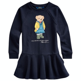 Polo Ralph Lauren Bear Knit Junior Dress - Hunter Navy