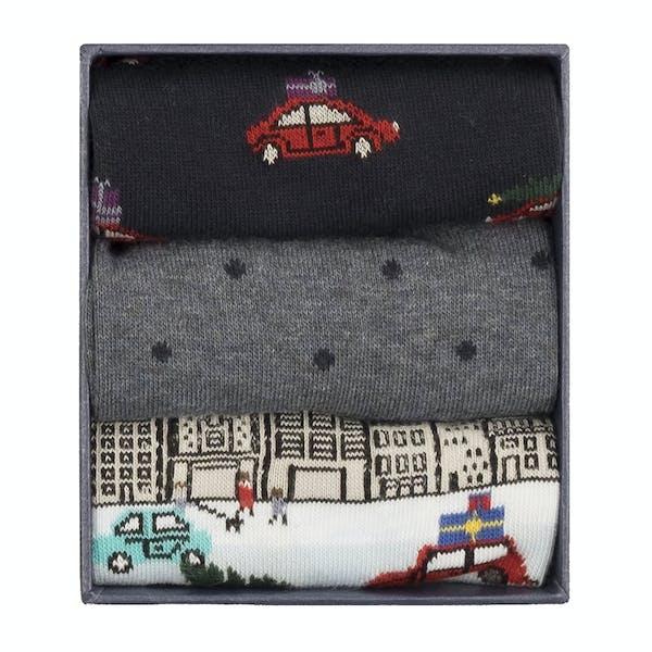 Corgi 3 Pack Cotton Gift Box , Sockor Mäns