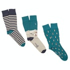 Corgi 3 Pack Cotton Gift Box Fashion Socks