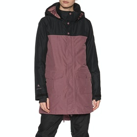 Blouson pour Snowboard Burton Gore Eyris - True Black Rose Brown