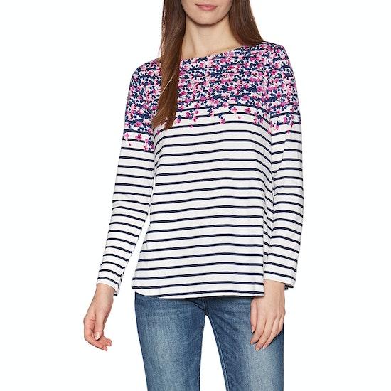 Joules Harbour Lt Print Womens Long Sleeve T-Shirt