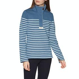 Joules Saunton Salt Womens Sweater - Blue Cream Stripe
