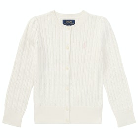 Polo Ralph Lauren Cable Strickjacke - Warm White