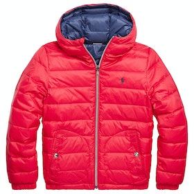 Polo Ralph Lauren Reversible Quilted Down Boy's Jacket - Red/French Navy