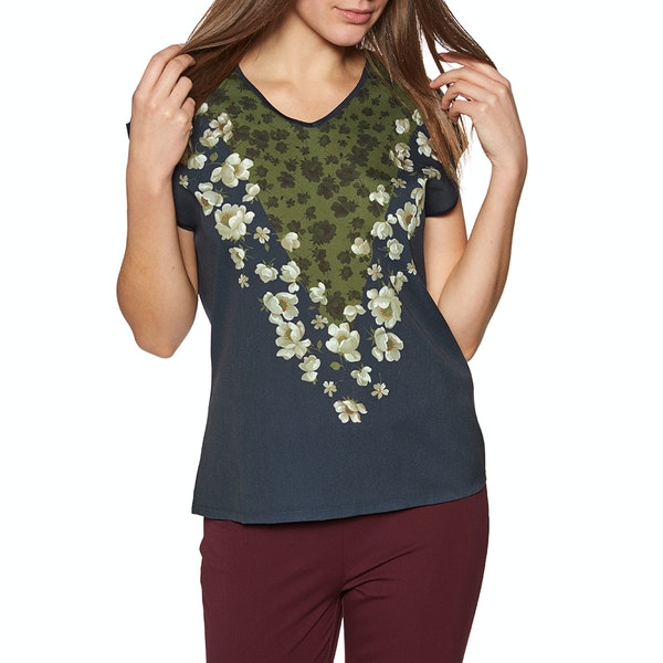 Ted Baker Onina Pearl Printed Woven Front Womens 半袖 T シャツ