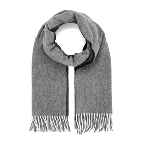 Country Attire Made In Scotland Wool and Cashmere Scarf - Grey / Grey Reversible