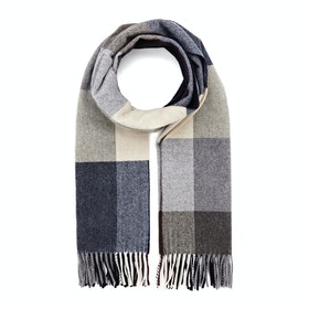 Country Attire Made In Scotland Wool and Cashmere Scarf - Multi Col Block Check