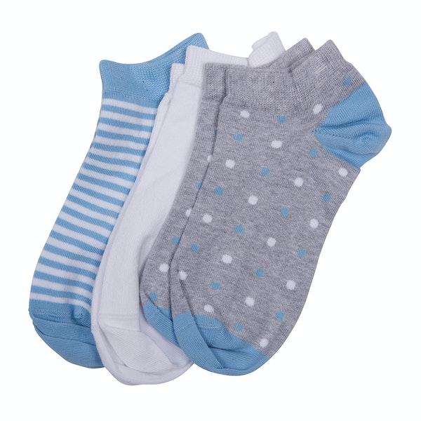 Barbour Spot and stripe 3 Pack Women's Socks