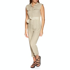 Rip Curl The Off Duty Boiler Suit Womens Jumpsuit - Stone Blue