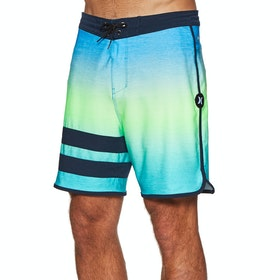 "Hurley Phantom Block Party Keep Cool 18"" Boardshorts - Pacific Blue"