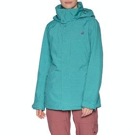 Burton Jet Set Snow Jacket - Green Blue Space Dye