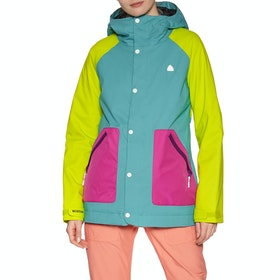 Burton Eastfall Womens Snow Jacket - Green Blue Slate Tendershoots Fuchsia