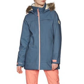 Blouson pour Snowboard Burton Lelah Stretch Denim - Light Denim