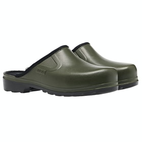 Aigle Taden Slip On Wellies - Kaki/noir