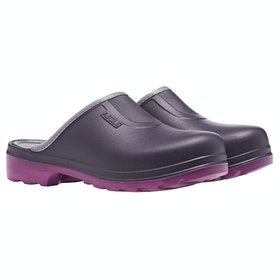 Aigle Taden Slip On Ladies Wellies - Aubergine/dahlia