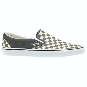 Vans Classic Slip On Checkerboard , Skor - Pewter True White