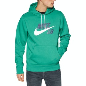 Nike SB Essential Icon Pullover Hoody - Neptune Green White