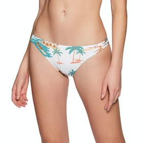 Bas de maillot de bain Femme Roxy Printed Beach Classic Full - Bright White Honolulu