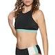 Roxy Fitness Crop Womens Bikini Top