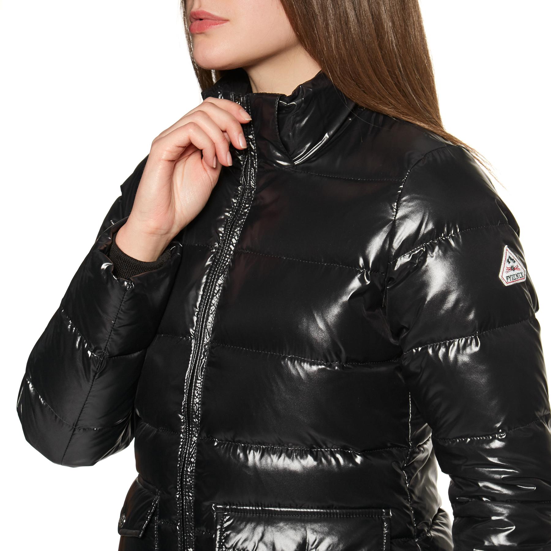 Daunenjacke Damen Authentic Fur Pyrenex Shiny Black VSMzUp