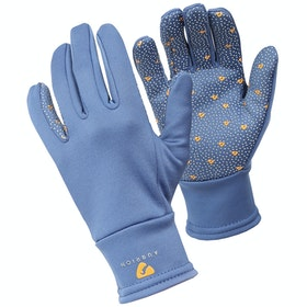 Shires Aubrion Patterson Winter Ladies Riding Gloves - Blue