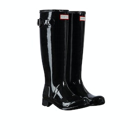 Hunter Original Tour Gloss Womens Wellies - Black