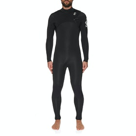 C-Skins Session 5/4mm Chest Zip Wetsuit - Black Black White