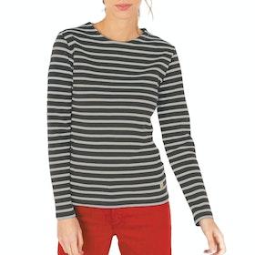 Armor Lux Mariniere Interlock Women's Long Sleeve T-Shirt - Slate Nature