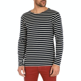 Armor Lux Heritage Mariner Men's Long Sleeve T-Shirt - Blue Black Nature