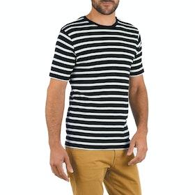 Armor Lux Mariniere Men's Short Sleeve T-Shirt - Blue Black Nature